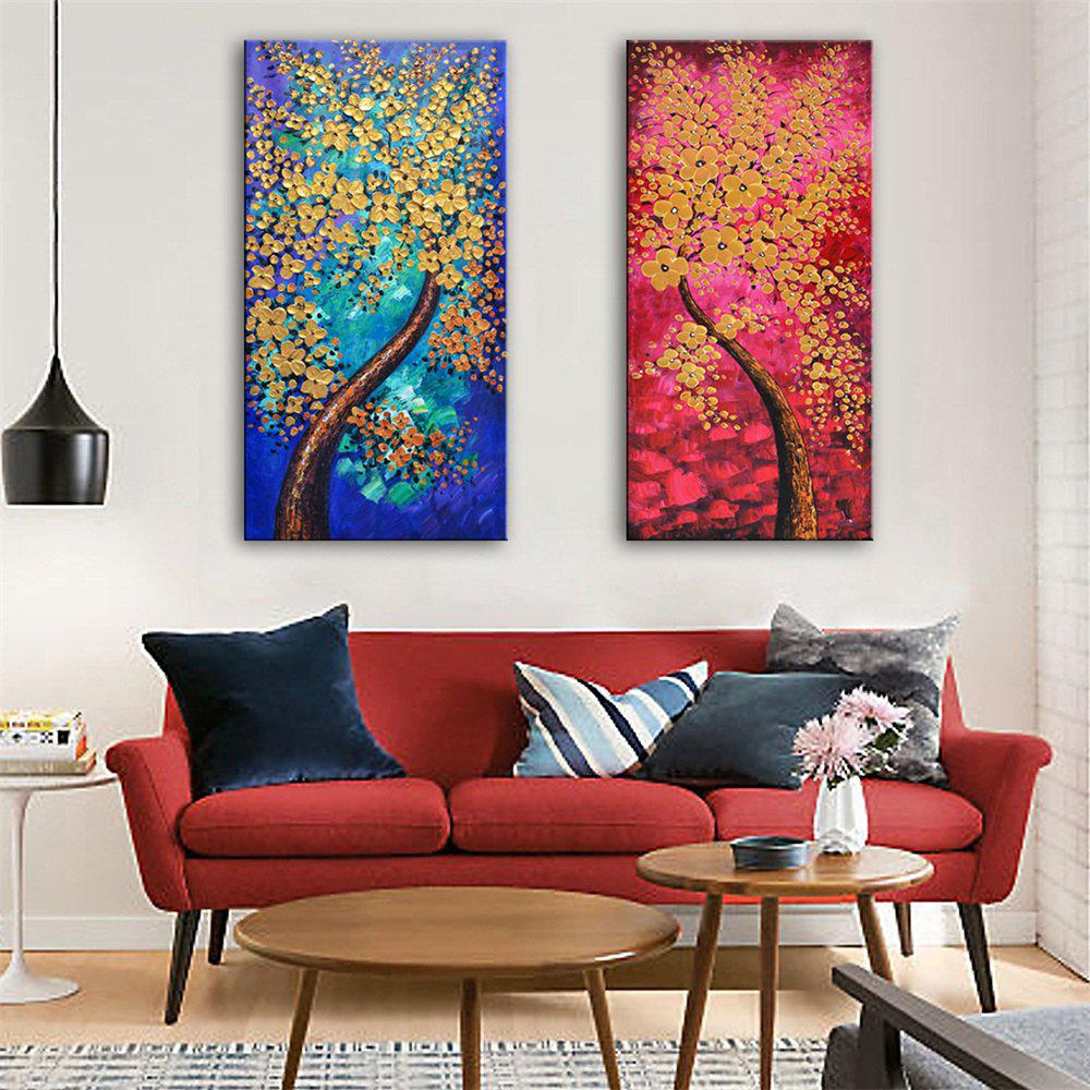 Special Design Frameless Paintings Ice and Fire Print 2PCS
