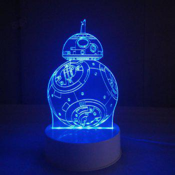 3D Lamp Visual LED Table Night Light Robot Shape Multi Color Lamp - multicolor 20 X 15 X 9CM