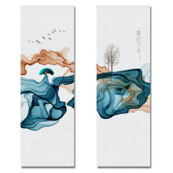 MY43-XDZS - 55-56 2PCS Abstract Scenery of Fashion Print Art - multicolor 25X75CMX2