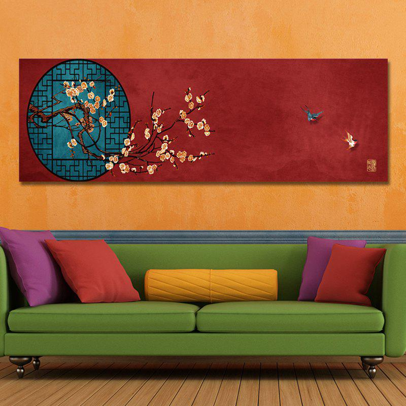 MY43-XDZS - 110 Chinese Style Floriculture Print Art - multicolor 30 X 90CM