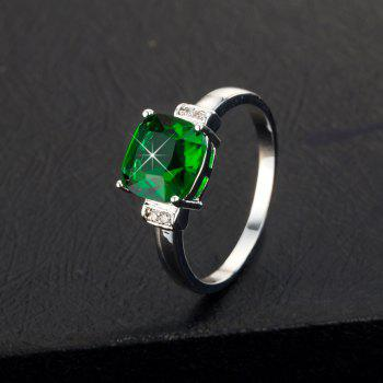 Fashion Simple Square Zircon Ring J1799 - CLOVER GREEN US SIZE 7