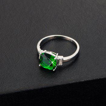Fashion Simple Square Zircon Ring J1799 - CLOVER GREEN US SIZE 8