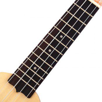 17 inch Spruce Solid Mini Travel Guitar Sealed Machine Head - YELLOW