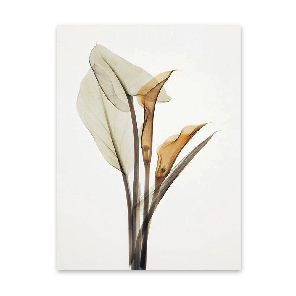 W005 Calla Lily Unframed Art Wall Canvas Prints for Home Decorations calla lily bouquet design glass coaster sets set of 2