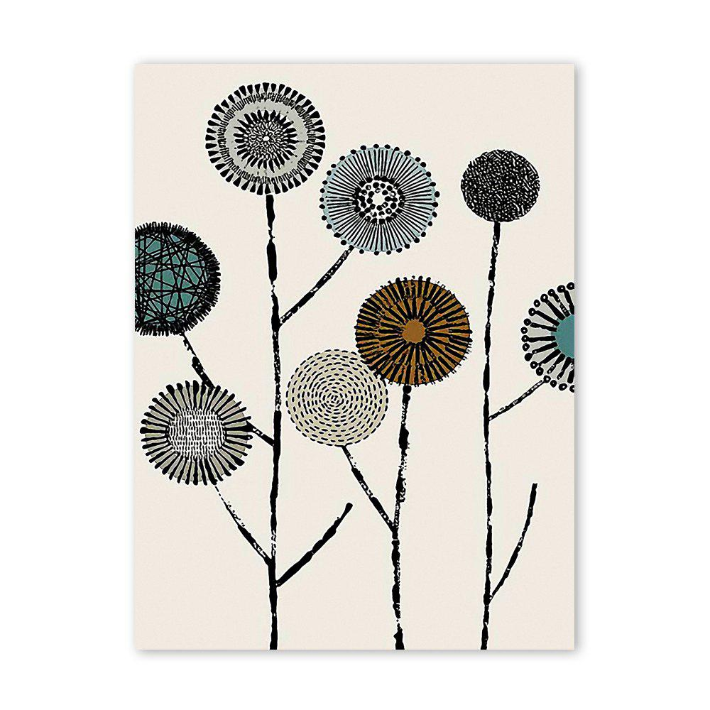 W012 Dandelion Unframed Art Wall Oil Canvas Prints for Home Decorations burning guitar pattern unframed wall art canvas paintings