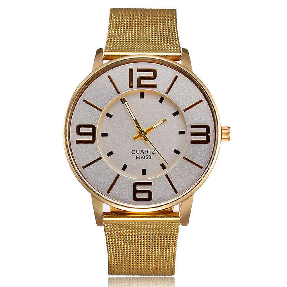 Large Dial Double Layer Quartz Watch - YELLOW