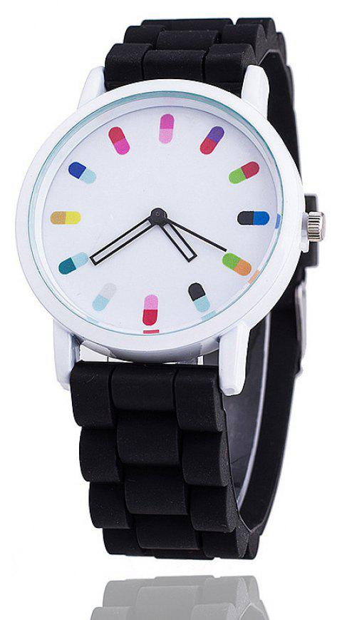 Personalized Candy Color Silicone Watch - BLACK