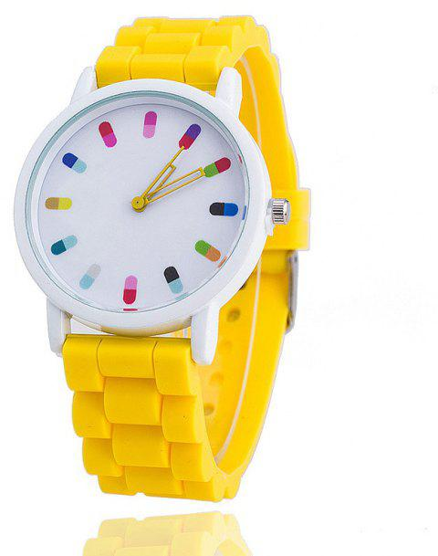 Personalized Candy Color Silicone Watch - YELLOW