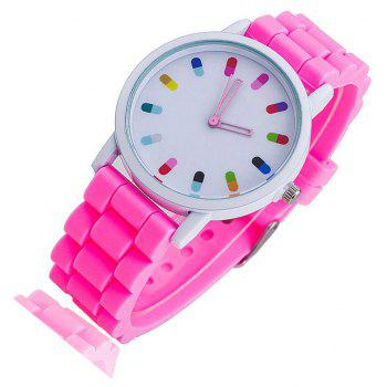 Personalized Candy Color Silicone Watch - NEON PINK