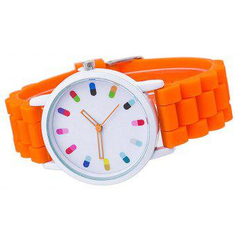 Personalized Candy Color Silicone Watch - DARK ORANGE