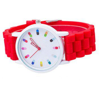 Personalized Candy Color Silicone Watch - RED