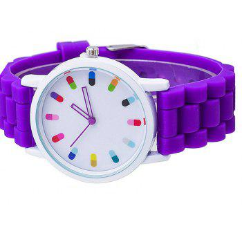 Personalized Candy Color Silicone Watch - VIOLET