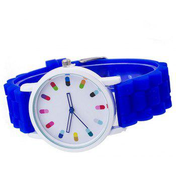 Personalized Candy Color Silicone Watch - DEEP BLUE