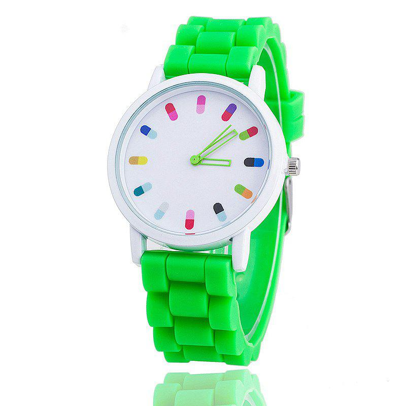 Personalized Candy Color Silicone Watch - NEBULA GREEN