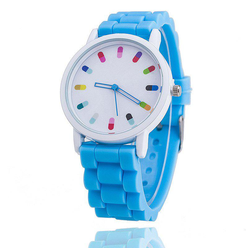 Personalized Candy Color Silicone Watch - LIGHT BLUE