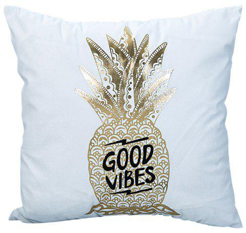 Super Soft Pineapple Love Letter with Pillow Cover - multicolor C