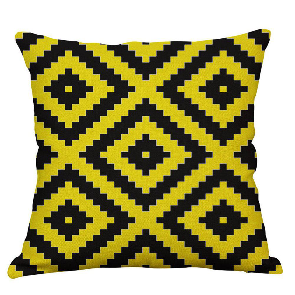 Geometric Letter Design Pillow Cover - multicolor C