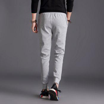 Male Jogging Pants Waist Pulling Rope Pants - GRAY L