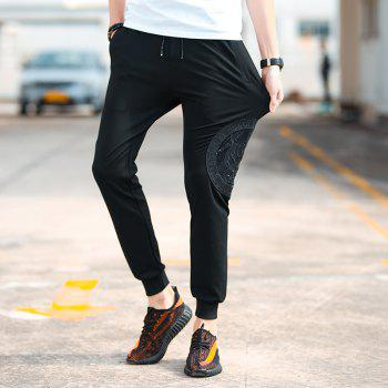Men's Fashion Casual Pants - BLACK 4XL