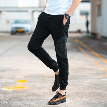 Men's Fashion Casual Pants - BLACK 3XL