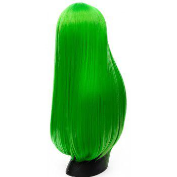 Long Straight Green Wig High Temperature for Women Cosplay Party Costume 26 inch - GREEN