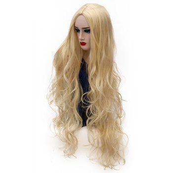 Synthetic Fashion Gold Wig Long Curly Hair High Temperature for Women 31 inch - GOLD