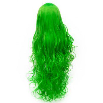 Synthetic Fashion Green Wig Long Curly Hair High Temperature for Women 31 inch - GREEN