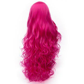 Fashion Rose Red Wig Long Curly Hair High Temperature for Women 31 inch - ROSE RED