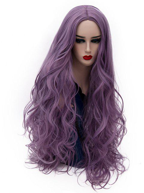 Fashion Purple Wig Long Curly Hair High Temperature for Women 31 inch - PURPLE DRAGON