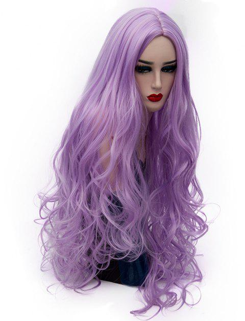 Synthetic Fashion Light Purple Long Curly Hair High Temperature for Women 31inch - PURPLE DRAGON
