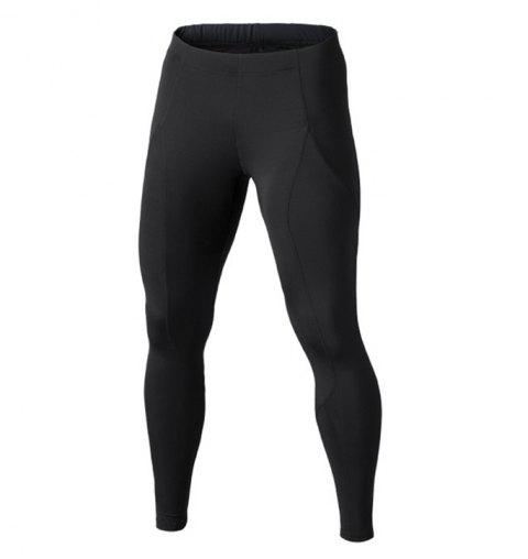 Breathable and Quick-drying Elastic Waist Pants - BLACK S