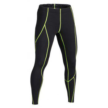 Breathable and Quick-drying Elastic Waist Pants - GREEN L