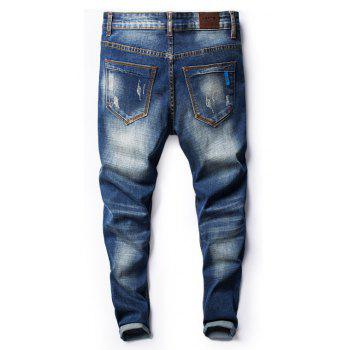 Four Seasons Can Wear Simple Casual Men Jeans - JEANS BLUE 28