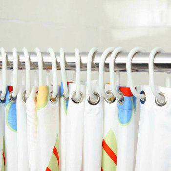 C-Type Shower Curtain Hook Hook Rings 12 PCS - MILK WHITE