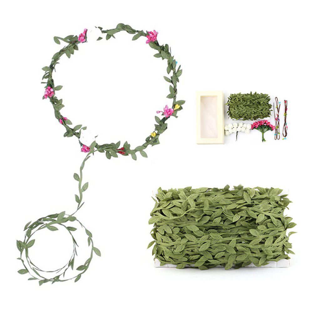 Plant Green Fine Rattan 40 Meters Artificial Leaf Flower Decoration green boho style flower decoration slippers