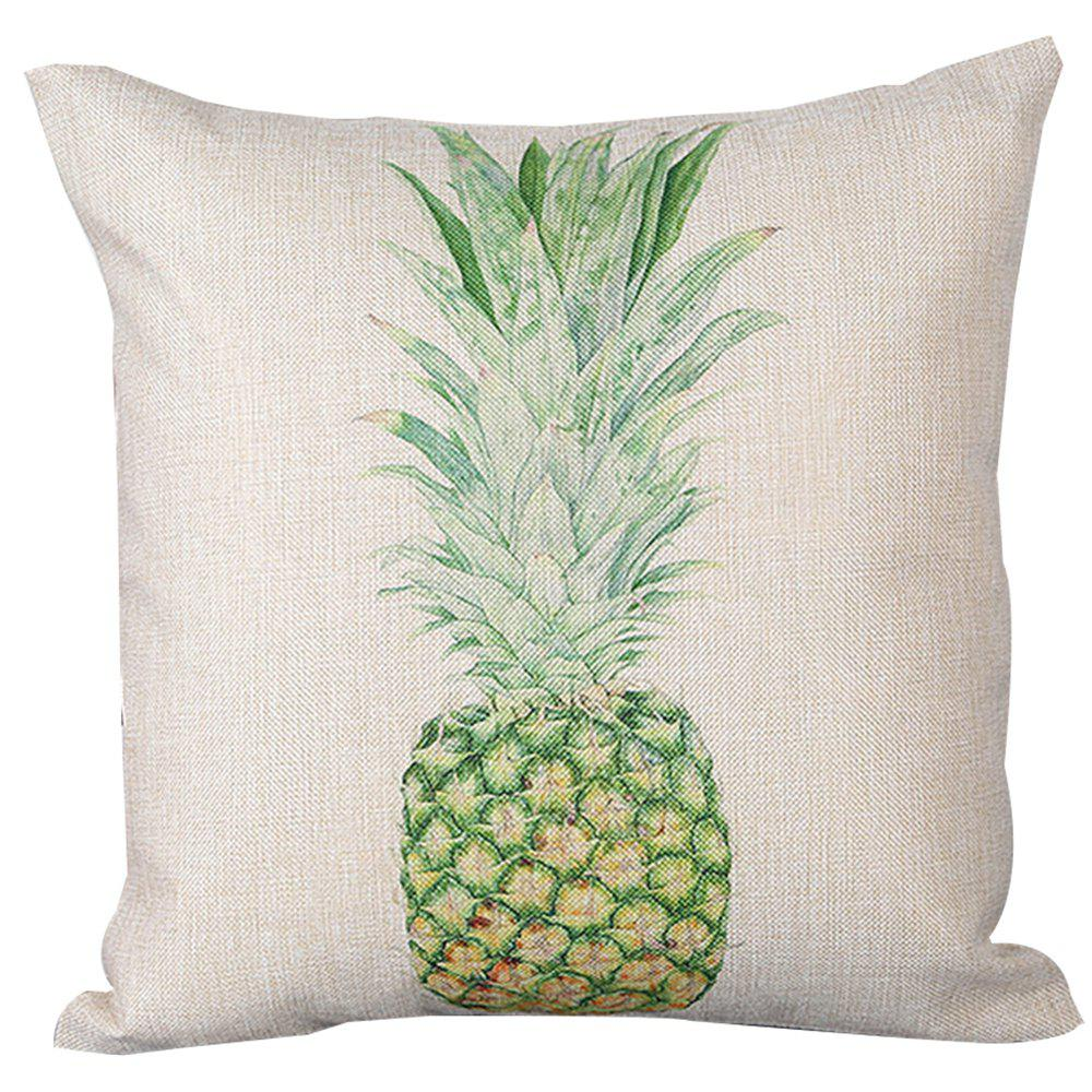 Pineapple Pattern Printed Cushion Cover - SPRING GREEN
