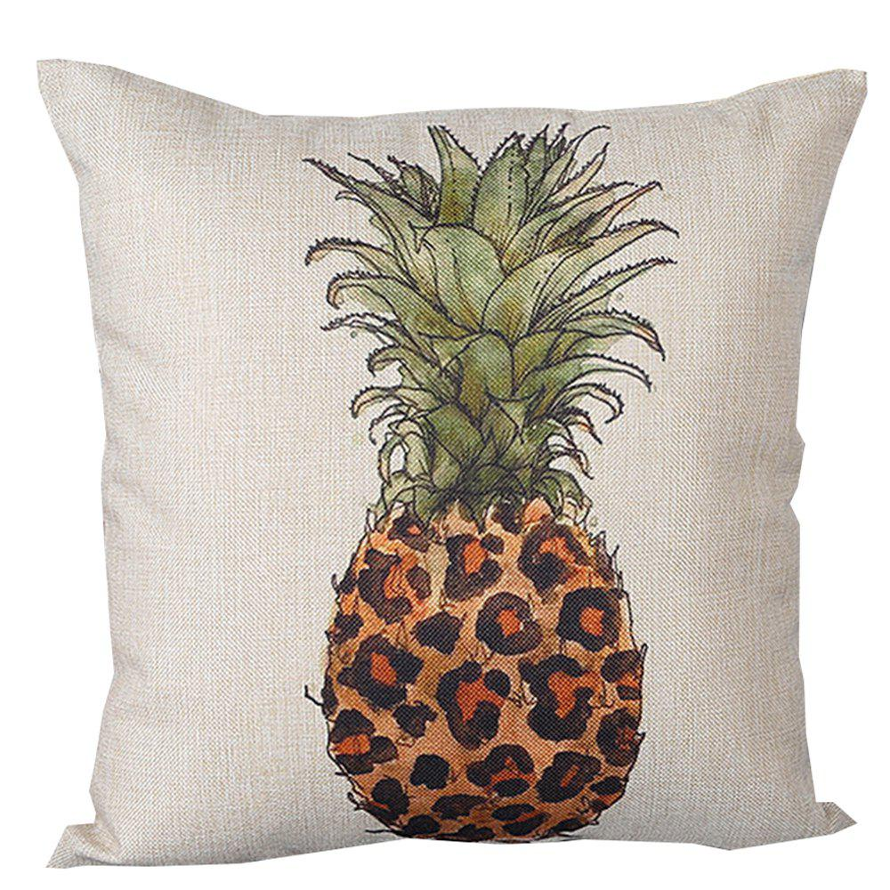 Pineapple Pattern Printed Cushion Cover - LEOPARD