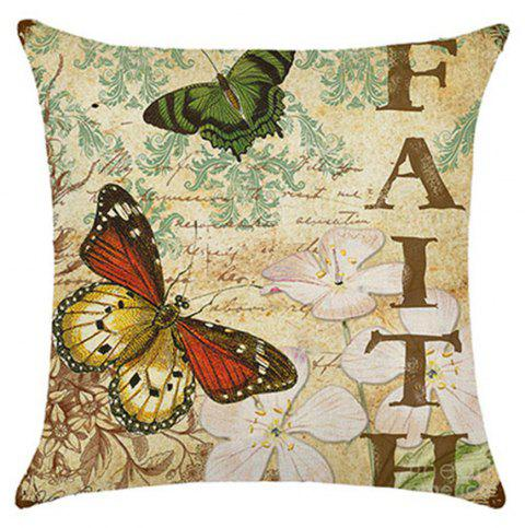 Lovely Butterfly Pillow Cover - multicolor B