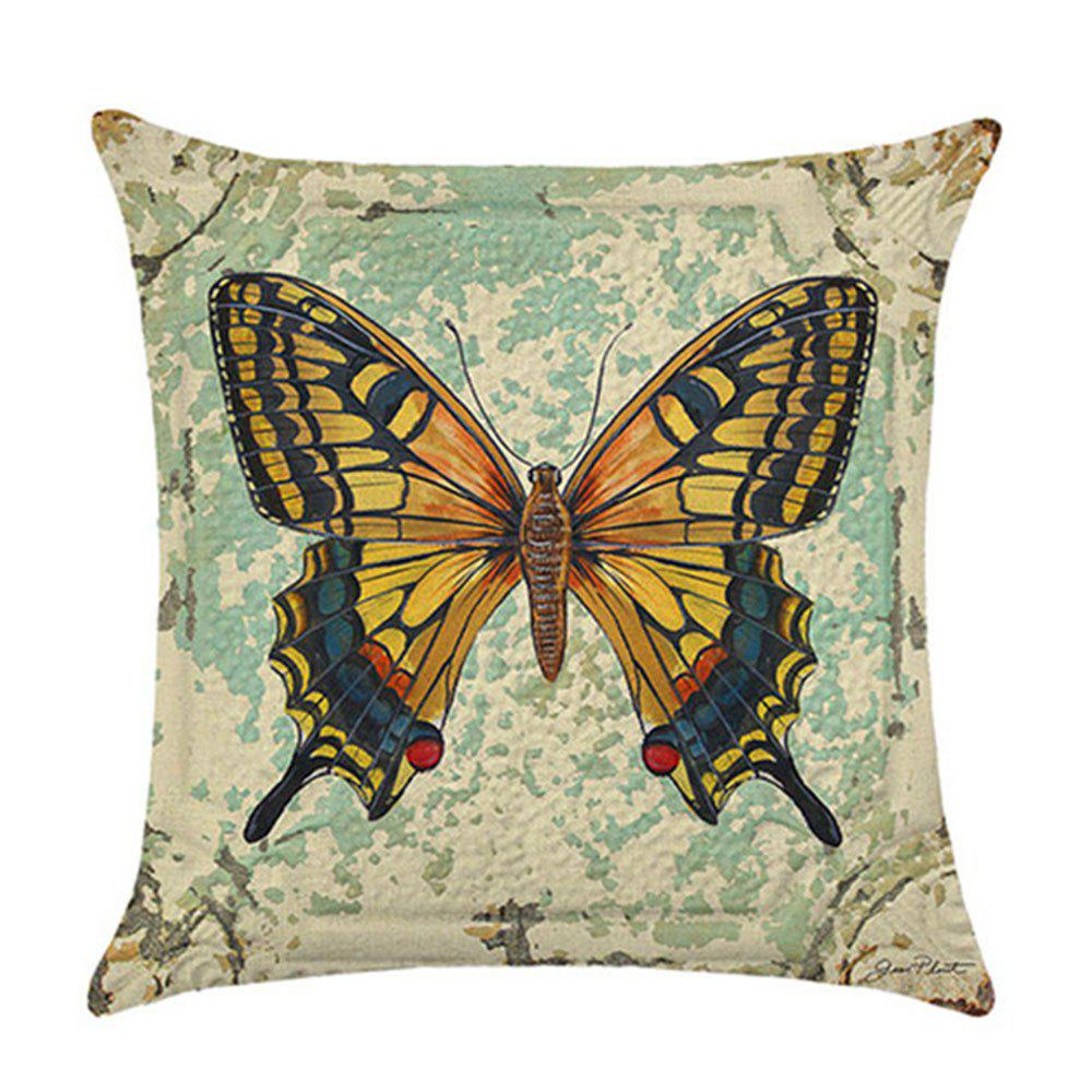Lovely Butterfly Pillow Cover - YELLOW