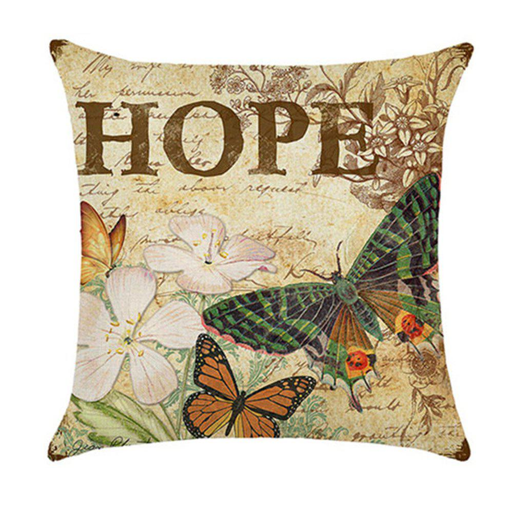Lovely Butterfly Pillow Cover - multicolor A