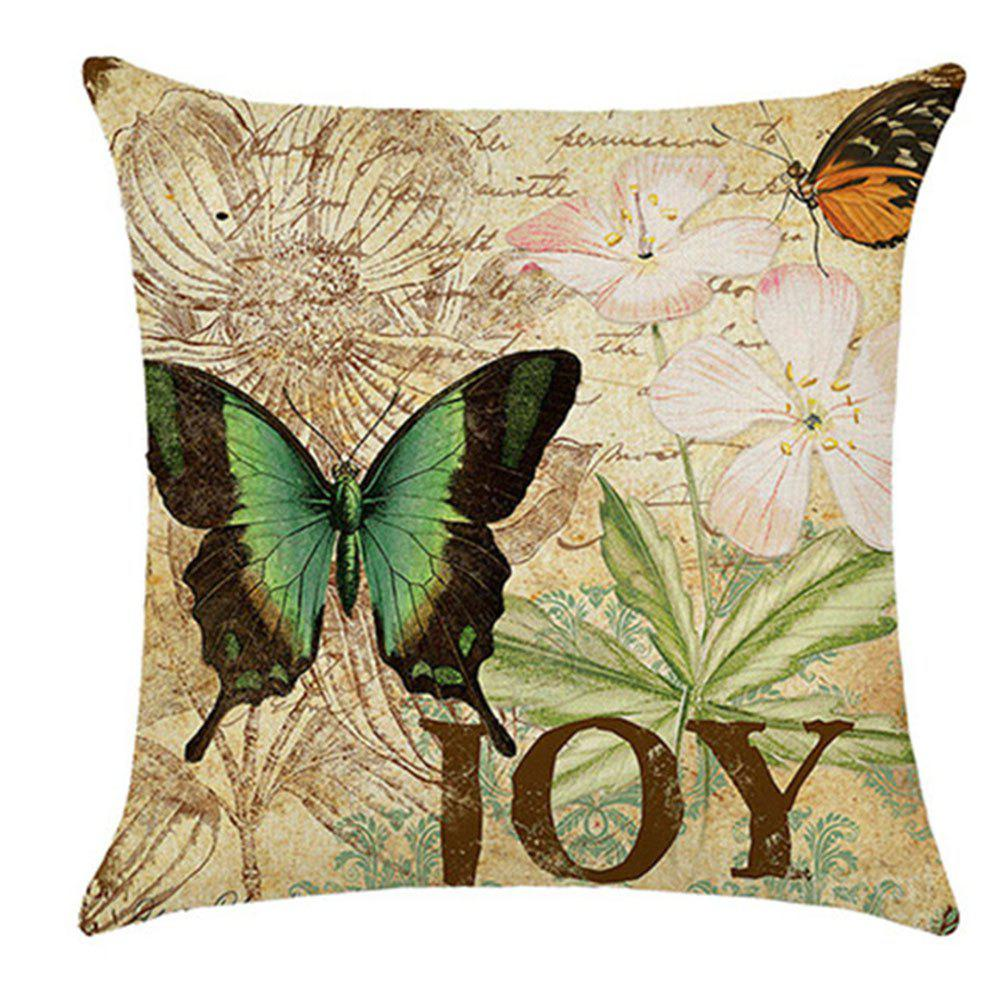 Lovely Butterfly Pillow Cover - multicolor C