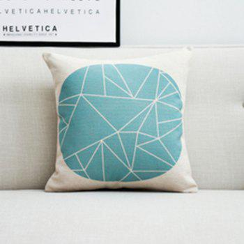 Simple Geometric Line Animal Cushion Cover - multicolor A