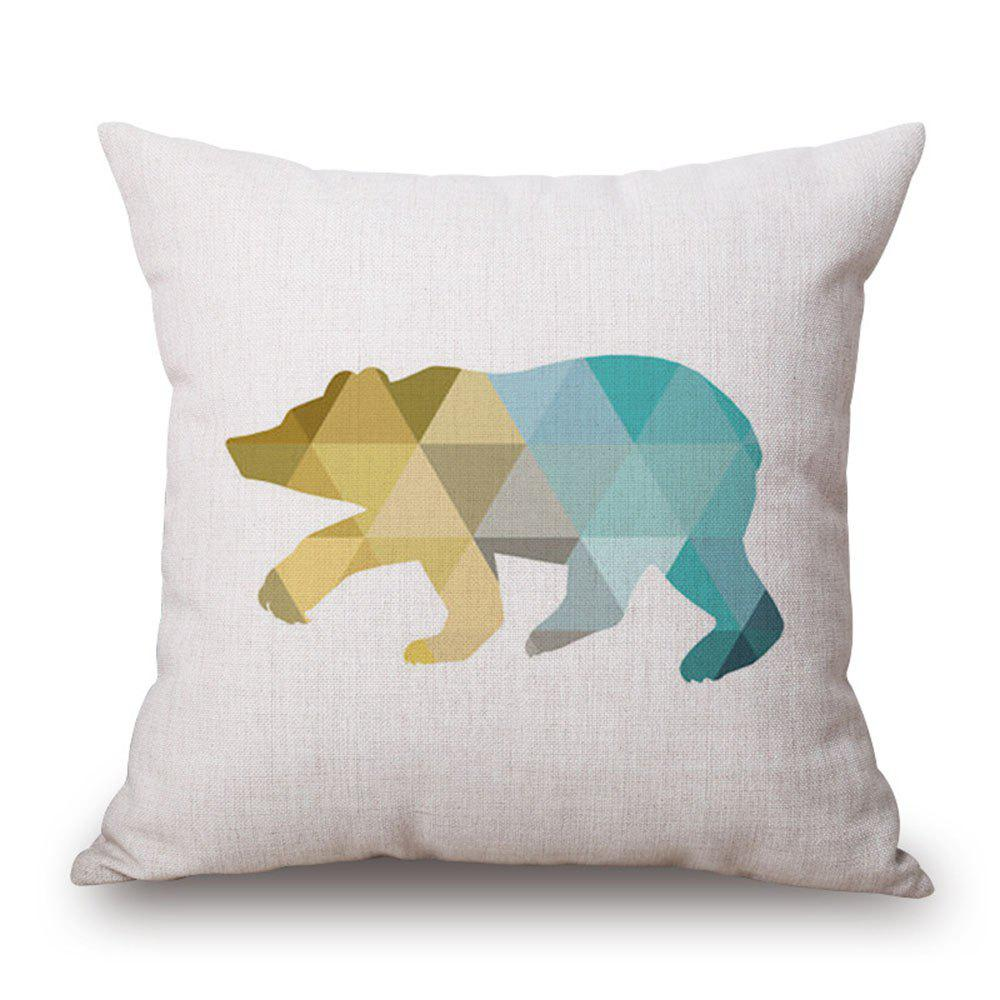 Simple Geometric Line Animal Cushion Cover - multicolor D