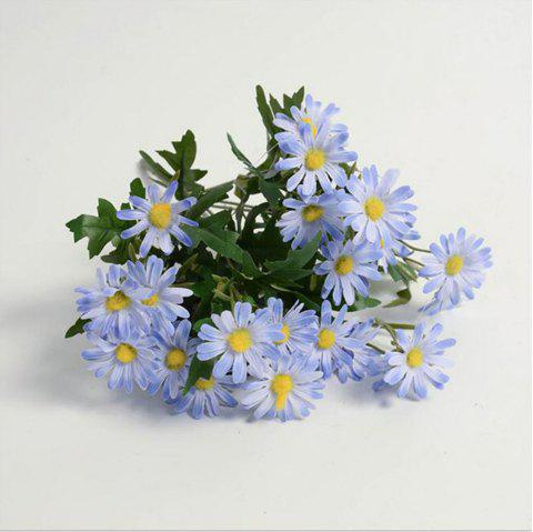 Daisies Decorated Artificial Flowers - LIGHT SKY BLUE
