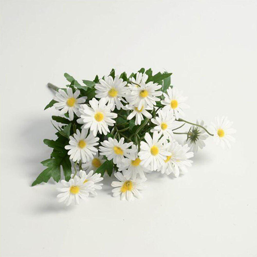 Daisies Decorated Artificial Flowers - WHITE