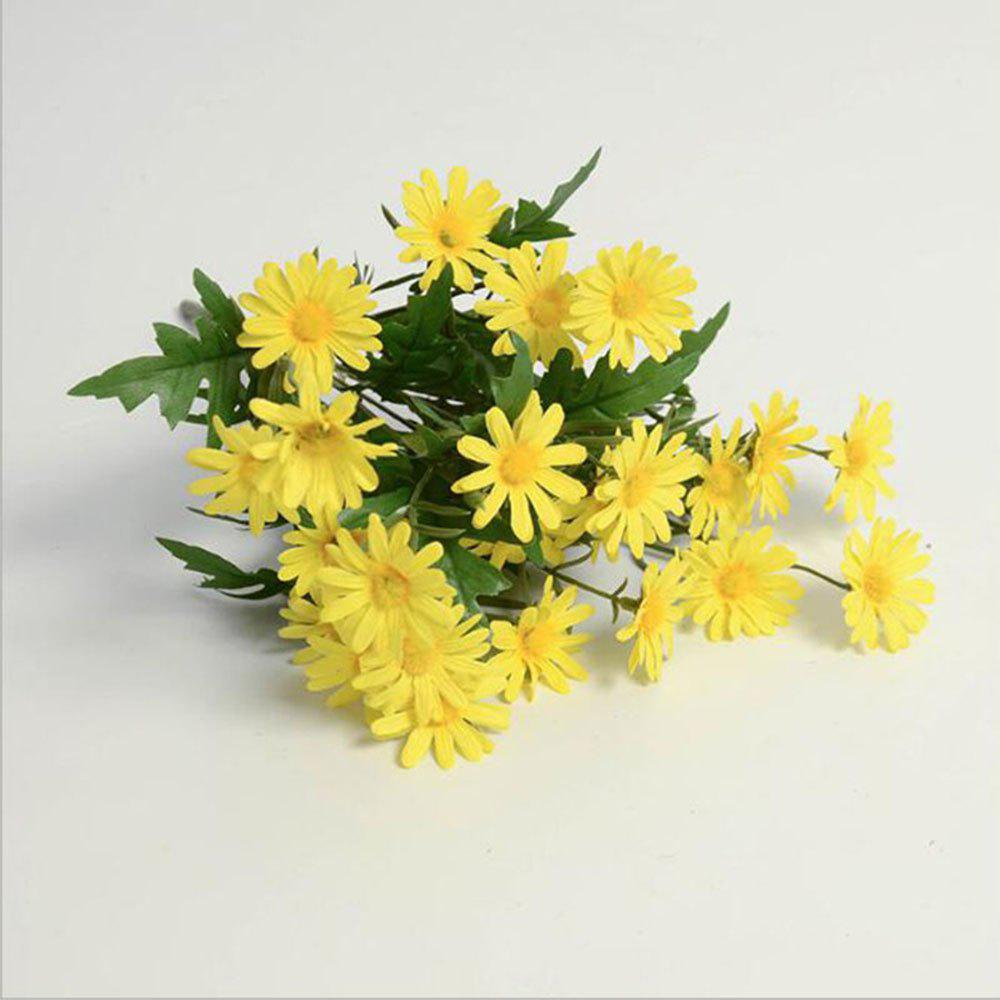 Daisies Decorated Artificial Flowers mini artificial flowers yellow