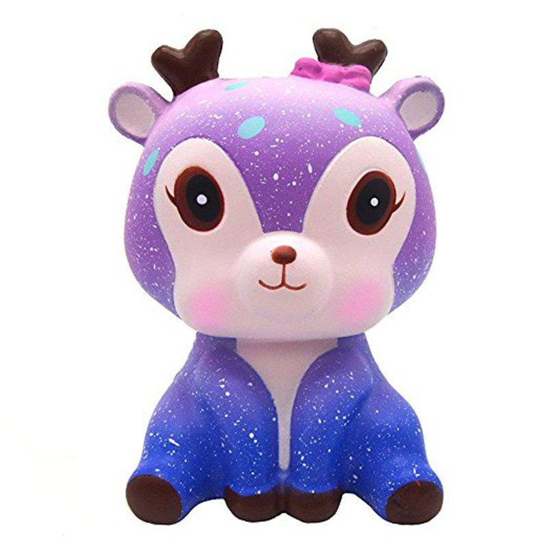 Galaxy Cute Deer Cream Scented Jumbo Squishy Slow Rising Squeeze Strap Kids Toy Gift jumbo squishy cute glasses bear scented charm super slow rising squeeze toy