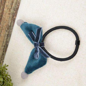 Three-Dimensional Manual Wool Ball Rabbit Ears Elastic Hair Band - BLUE KOI
