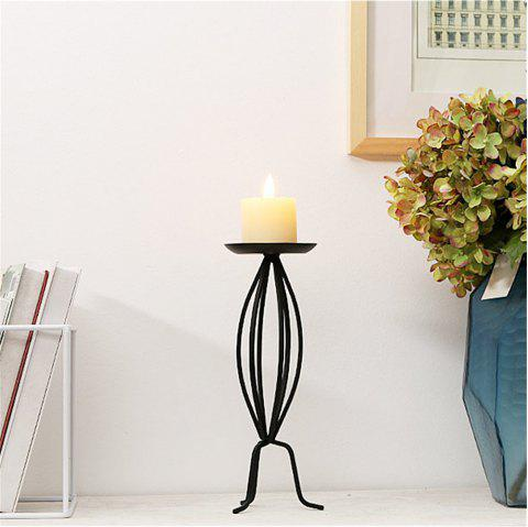Classical European Style Iron Art Candlestick Table Decoration - BLACK