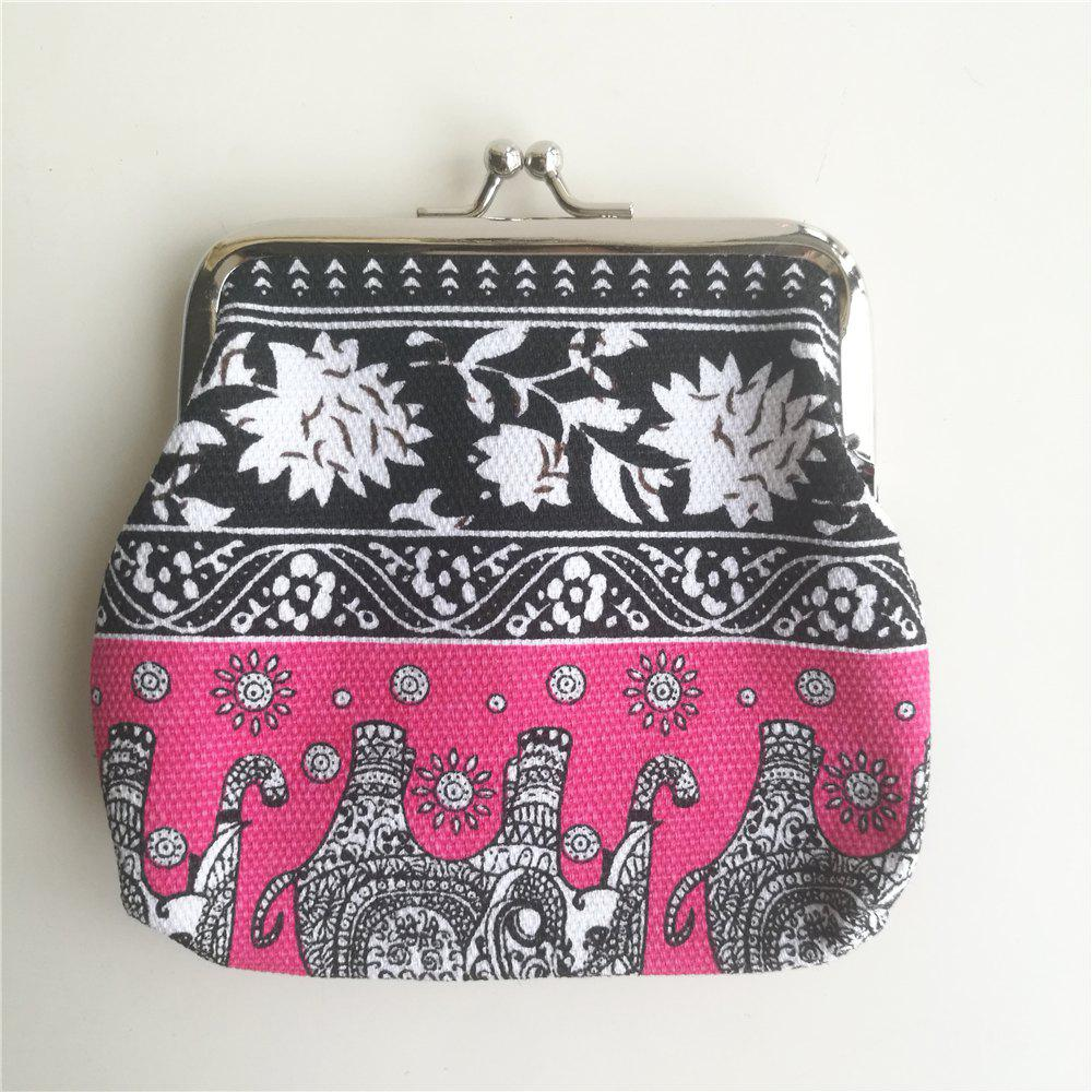 Ethnic Style Coin Purse Card Sundries Storage Bag cute cartoon camera women coin purse ladies leather coin pouch bag kawaii mini wallet small purse zipper key storage bag